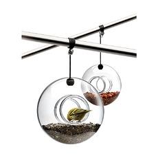 Кормушка для птиц подвесная, стеклянная