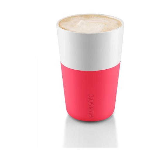 Чашки для латте, 360 мл, 2 шт, розовые