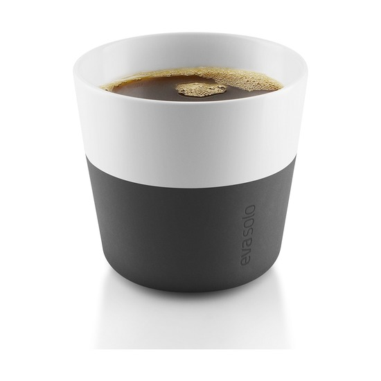 Чашки для лунго, 230 мл, 2 шт, чёрные