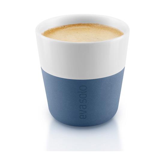 Чашки для эспрессо 80 мл, 2 шт, лунно-голубые