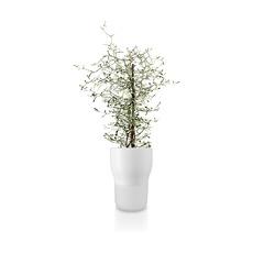 Горшок для растений с функцией самополива, 13 см, белый