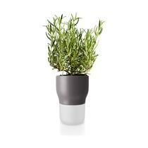 Горшок для растений с функцией самополива, 11 см, серый