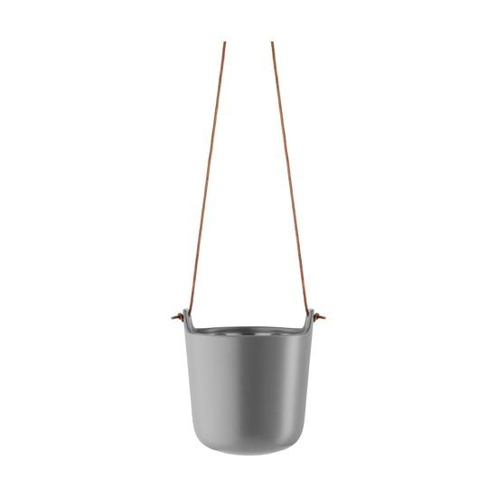Подвесной горшок с функцией самополива, серый