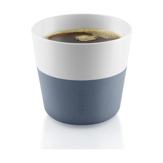 Чашки для лунго, 230 мл, 2 шт, синяя сталь