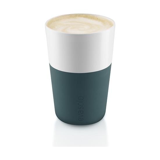 Чашки для латте, 360 мл, 2 шт, бирюзово-синий