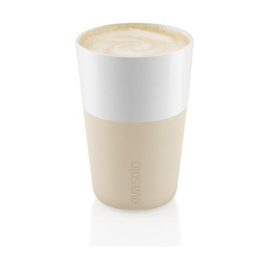 Чашки для латте, 360 мл, 2 шт, бежевый