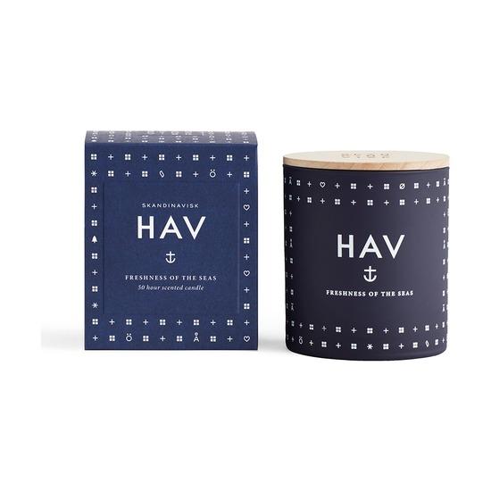 Свеча ароматическая Skandinavisk Hav с крышкой, 190 г
