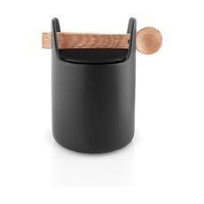 Емкость для хранения Toolbox с крышкой и ложкой, 15 см, черная