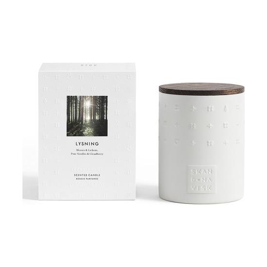 Свеча ароматическая Skandinavisk lysning с крышкой, керамика, 300 г