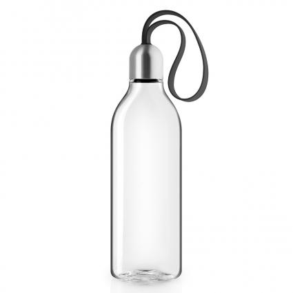 Бутылка плоская, 500 мл, черная