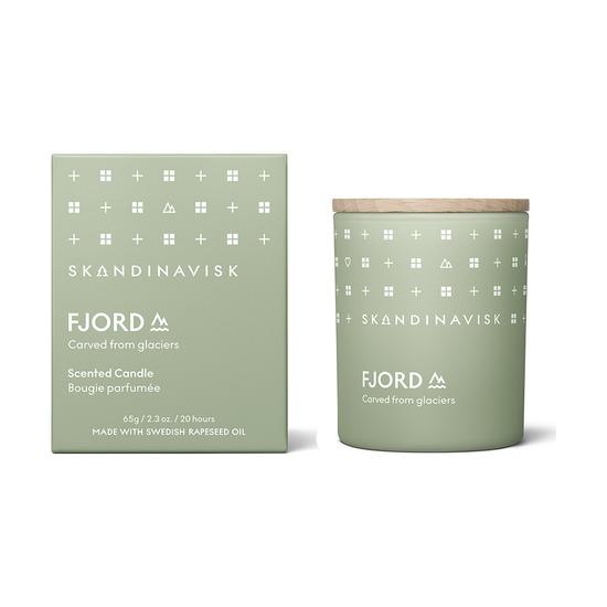 Свеча ароматическая Skandinavisk Fjord с крышкой, 65 г